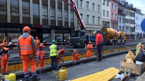 Gleiserneuerung Greifengasse – Mittlere Brücke